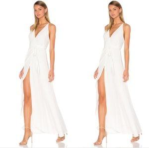 YUMI KIM Rush Hour White Wrap Maxi Dress